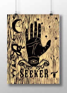 Seeker Woodblock Print 9 x 12