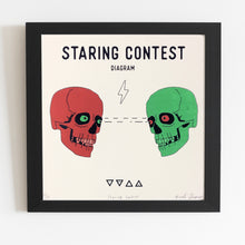 Staring Contest Screen Print 12 x 12