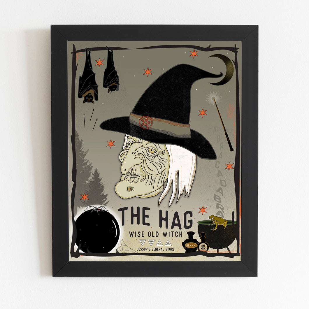 The Hag: Wise Old Witch - 16 x 20 Print