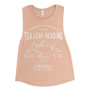 Tea Leaf Reading Ladies Muscle Tee - available in black and peach