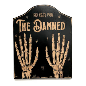 The Damned Wood Art Wall Hanging