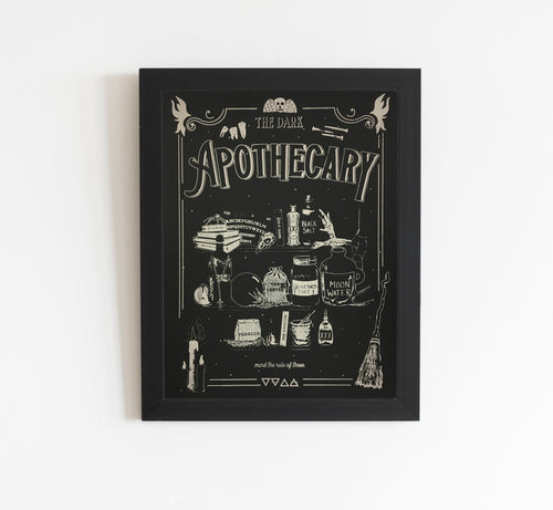The Dark Apothecary - Limited edition screen print 15 x 19