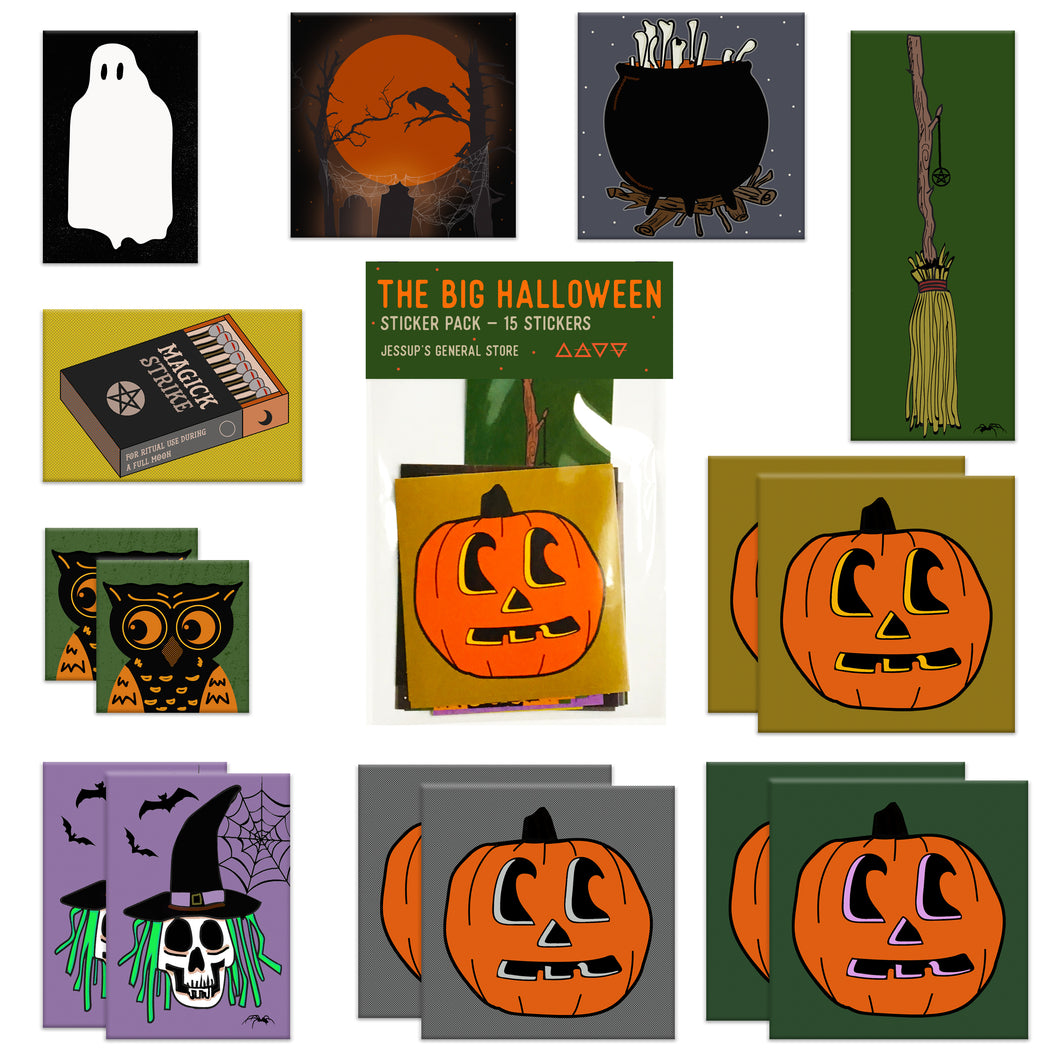 The BIG Halloween Sticker Pack (15 Stickers) Limited Edition