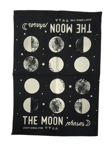 The moon phases tea towel