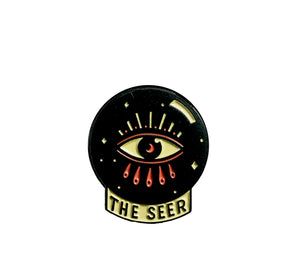 The Seer Crystal Ball Enamel Lapel Pin