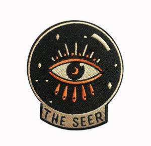The Seer Crystal Ball Embroidered Iron-on Patch