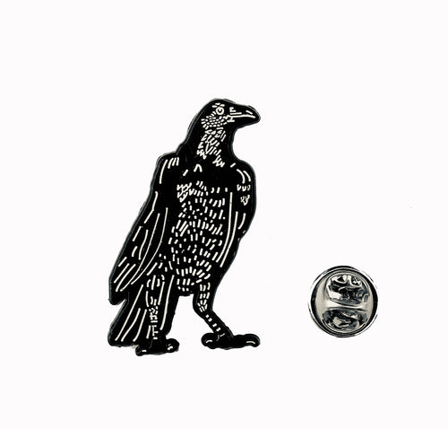 The Messenger Crow Lapel Pin