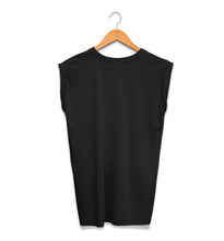 The Seer Crystal Ball Ladies Rolled Cuff Muscle Tee Back Black