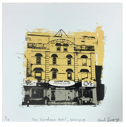 Vendome Hotel (Winnipeg, MB) - Limited edition print