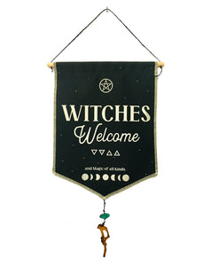 Witches Welcome Fabric Banner Tapestry
