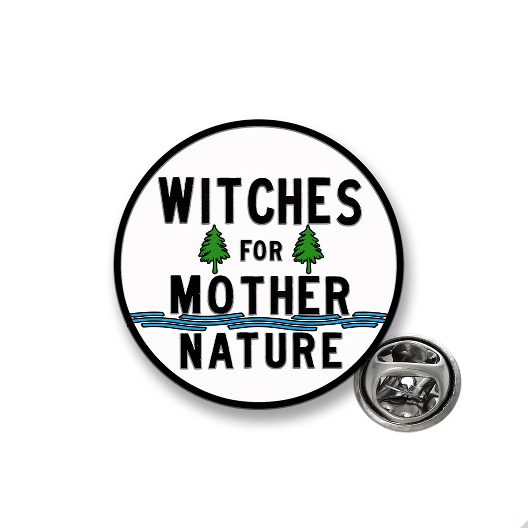 Witches for Mother Nature Enamel Lapel Pin