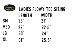 The Farm Fresh - Ladies Flowy Draped Sleeve Tee - SM left
