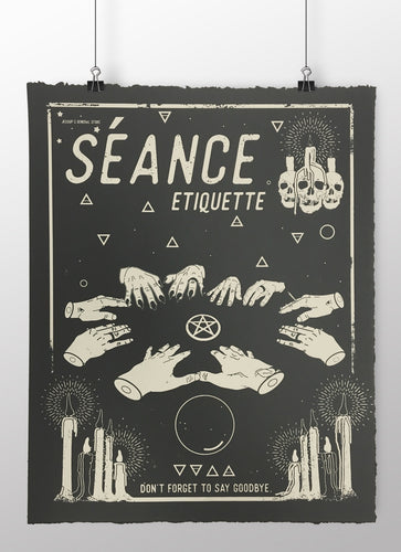 Seance Etiquette - limited edition screen print