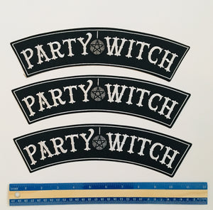 Party Witch Embroidered Iron On Back Patch