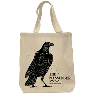 The Messenger Crow Tote Bag