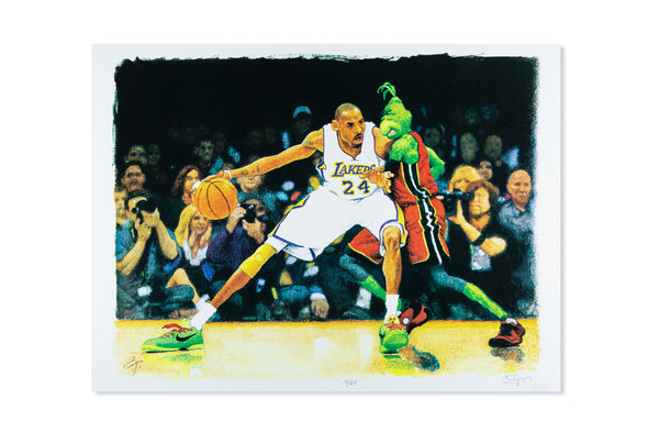 UNHeardof x CF Payne Kobe Grinch Silk Screen Print