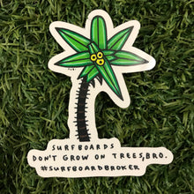Surfboard Tree Sticker (3pk) Shipped