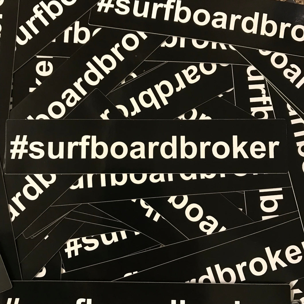 #Surfboardbroker Sticker (5) Pack
