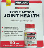 Kirkland Triple Action Joint Health Type II Collagen, Boron and HA - 110 Count