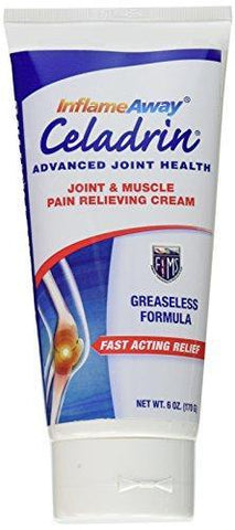 InflameAway Celadrin Cream - Advanced Joint & Muscle Pain Relieving Cream - 6 Oz