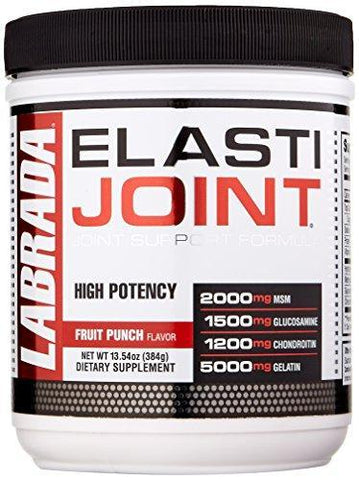 Labrada Elastijoint Joint Support Powder - All In One Drink Mix With Glucosamine, Chondroitin, MSM And Collagen