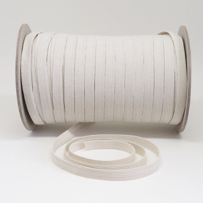 ORGANIC COTTON ELASTIC RIBBON - 10mm - NATURAL