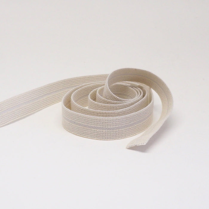 ORGANIC COTTON EDGE BINDING ELASTIC RIBBON - 15mm - NATURAL