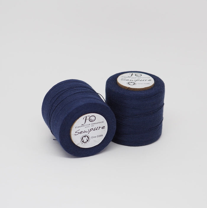 SEWPURE ORGANIC COTTON THREAD NAVY BLUE