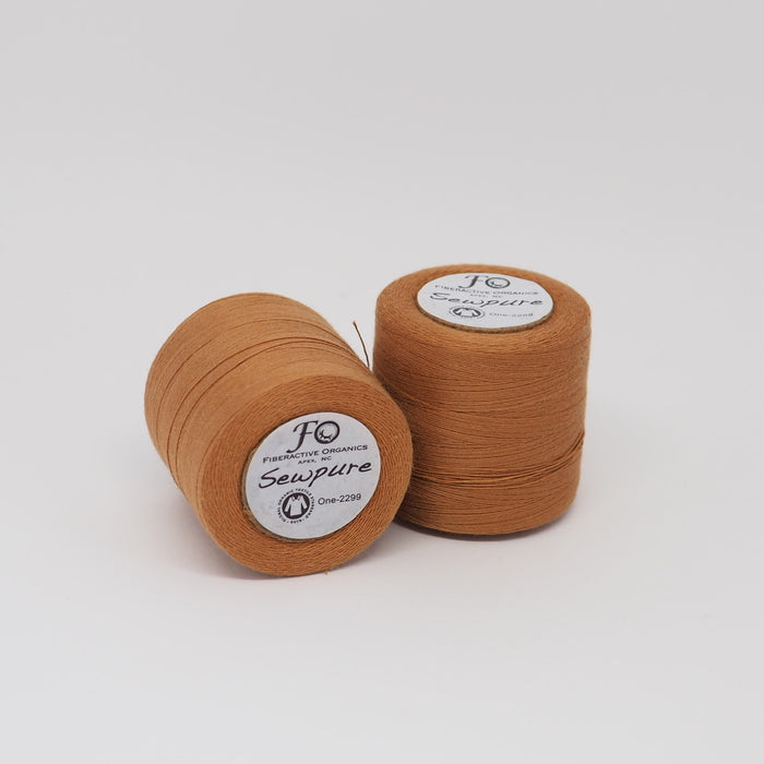 SEWPURE ORGANIC COTTON THREAD PUMPKIN