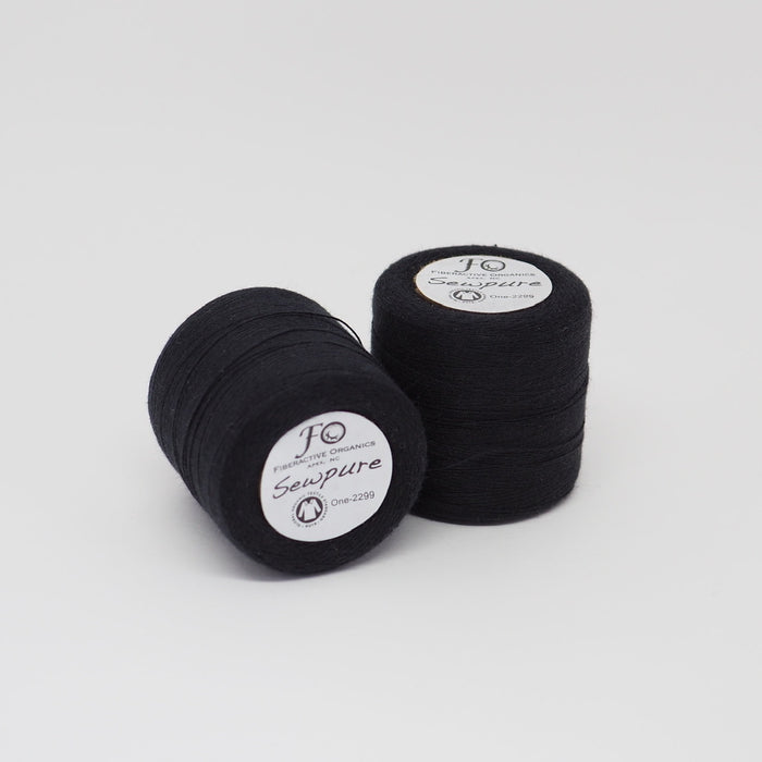 SEWPURE ORGANIC COTTON THREAD BLACK - TEX 70