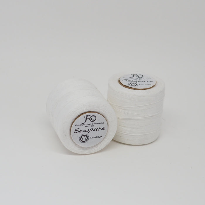 SEWPURE ORGANIC COTTON THREAD WHITE