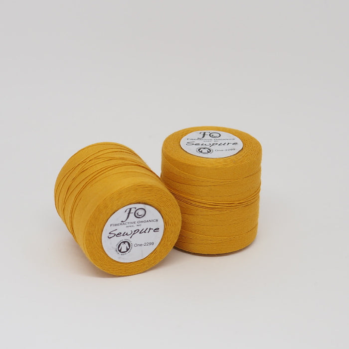 SEWPURE ORGANIC COTTON THREAD MARIGOLD - TEX 70