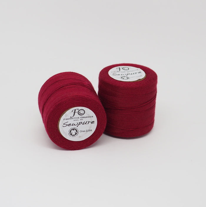 SEWPURE ORGANIC COTTON THREAD RED WINE