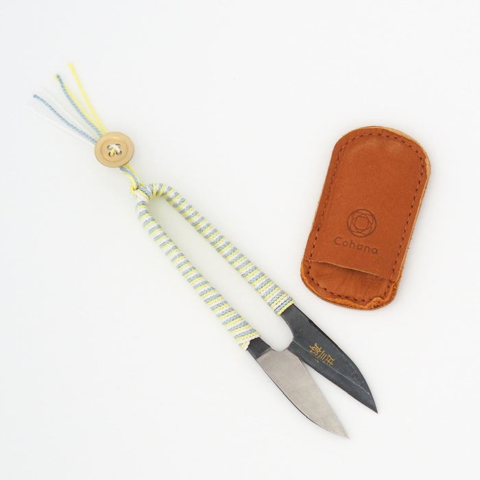 SHOZABURO THREAD SNIPS WITH SILK IGA BRAID - YELLOW