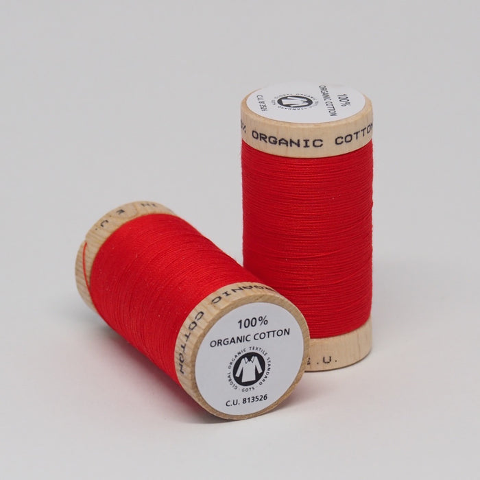 Organic Cotton Thread Ruby Red