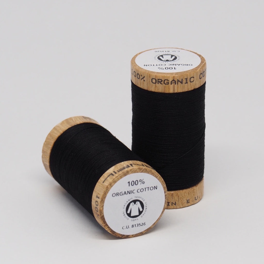 SCANFIL ORGANIC COTTON THREAD BLACK ONYX