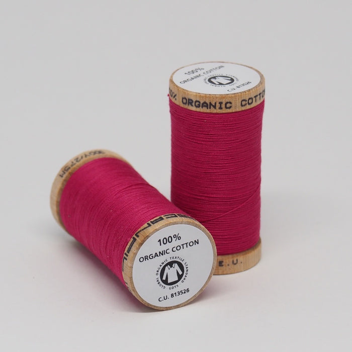 Organic Cotton Thread Deep Rose