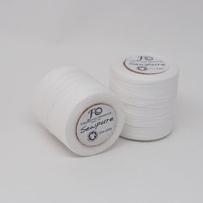 Sewpure Organic Cotton Thread White - Tex 70