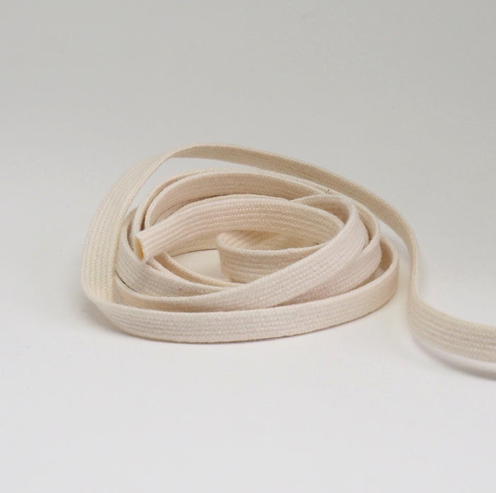 ORGANIC COTTON TUBULAR CORD - 10MM LIGHT NATURAL