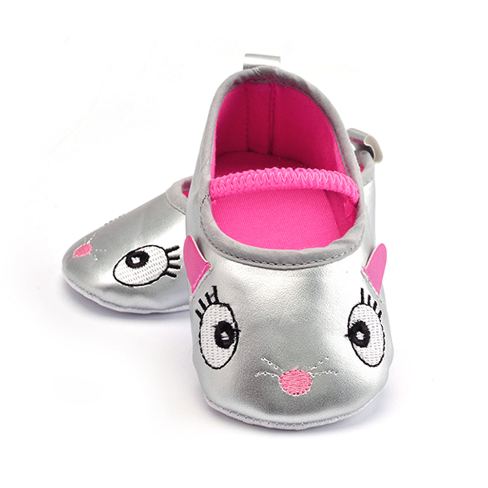 Baby Girl Shoes PU Leather Infant Toddler born Baby Children First Walkers Crib Soft Shoes Footwear Prewalker Silver