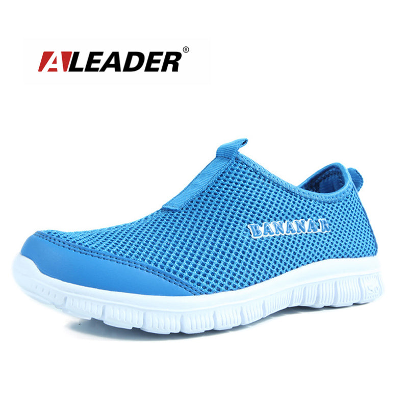 2016 ALEADER Mesh Casual Shoes Slip On Walking Flat Shoes for Unisex Men Breathable zapatillas deportivas mujer