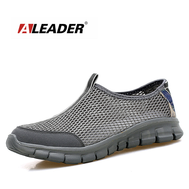 ALEADER Breathable Men Shoes Casual Lightweight Walking Shoes Slip On Men Water Shoes Mesh Male Shoes zapatillas deporte