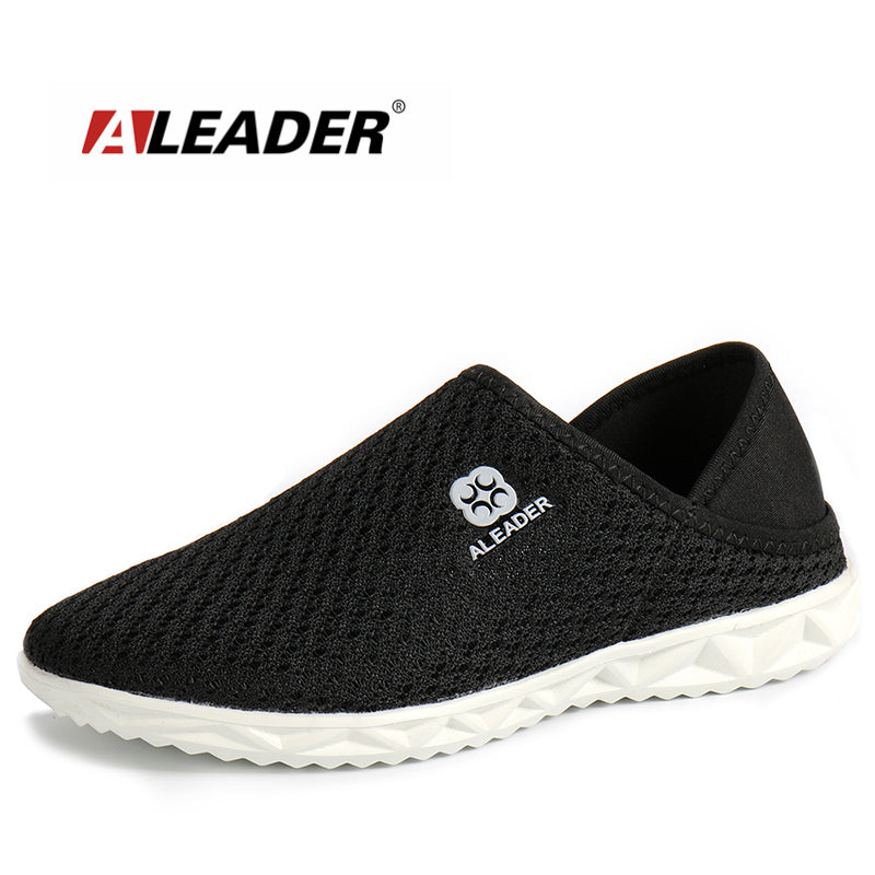 Aleader Lightweight Unisex Shoes Casual Mesh Shoes Men Indoor Slippers Slip On Breathable Walking Shoes Male zapatillas