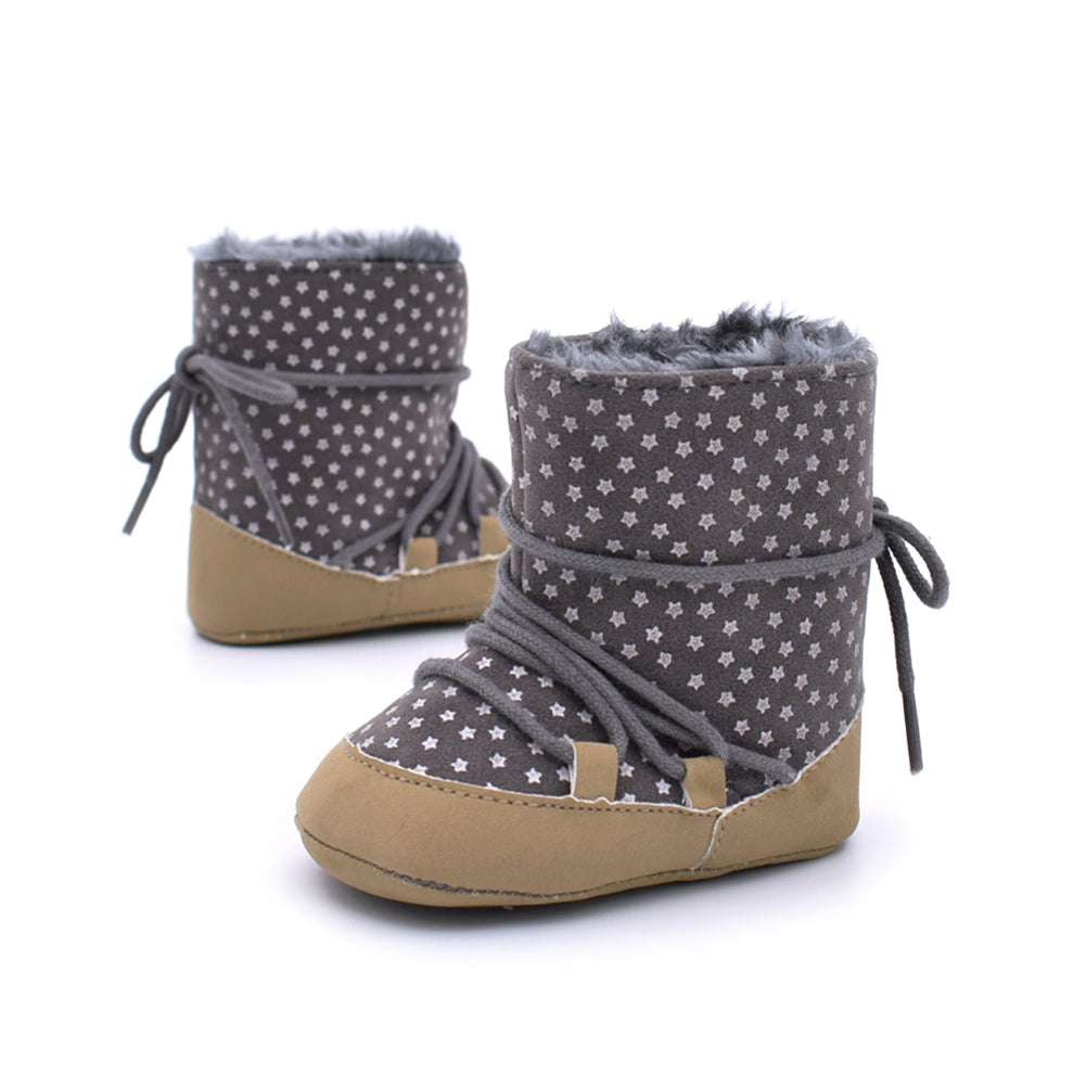 Baby Booties Winter Baby Girls Shoes Moccasin Shoes For Girls Kids Children Cute Star Boots born Shoes Soft Botines Footwear