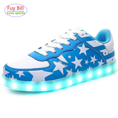 7 Colors Glowing Led Shoes Men&Unisex Luxe Brand Casual Light up Calzado Hombre Luminous Chaussure Femme Lumineuse For Adults