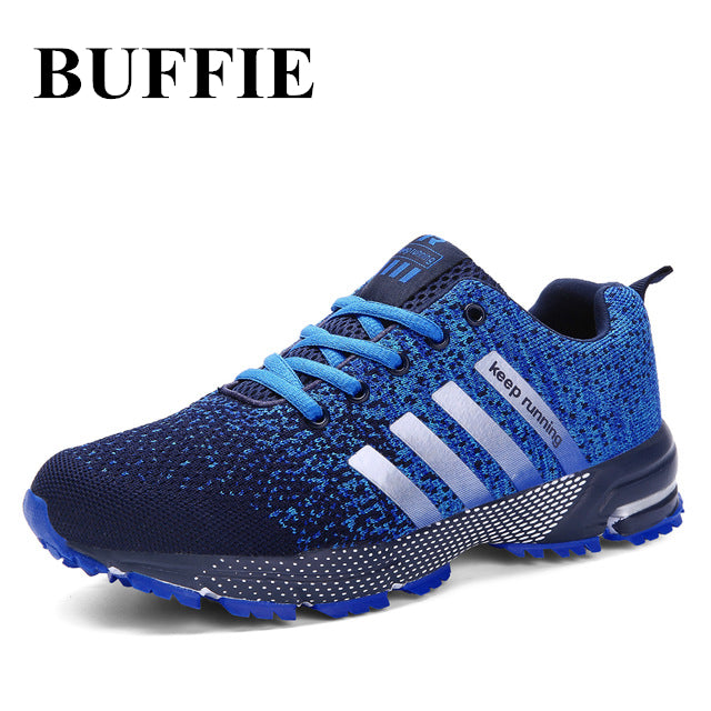 BUFFIE Men Shoes Men Breathable Casula Shoes sneakers High quality Lightweight Unisex lace mesh Male shoes Plus size35-47