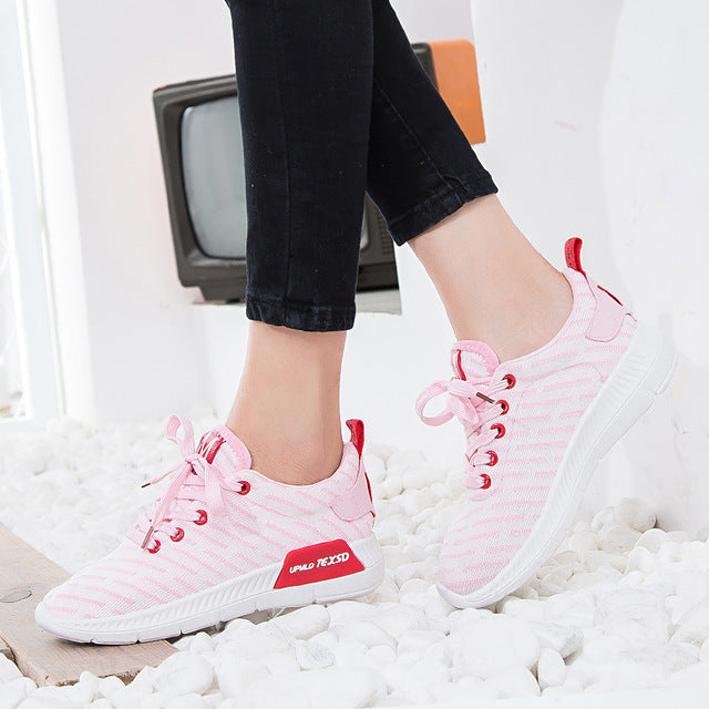 Women's Air Mesh Sneakers breathable flat platform shoes Female Sneakers fashion casual shoes for girls air tenis boots