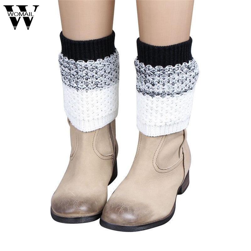 Winter Women Ladies Crochet Knitted Boot Cuffs Leg Warmers Short Liner for Boot Amazing