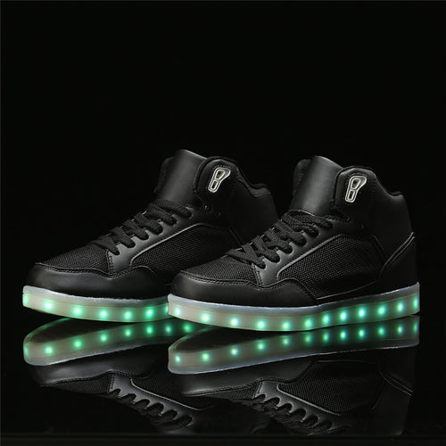2017 LED Light Shoes Adults Casual Shoes Men 7 Colors Glowing Fashion LED new Shoes MEN Flats High-top Adults Lumineuse Shoes