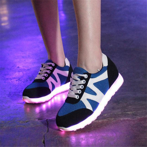 2017 Men Fashion Led shoes  adults Men Flash male Luminous light up shoes for adults Nice glowing sneaker christmas gift
